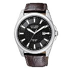 Citizen men's brown leather strap watch - Product number 8724377