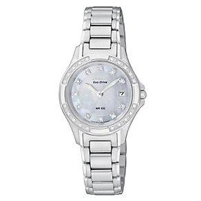 Ladies' Citizen Eco-Drive Diamond Bracelet Watch - Product number 8726388