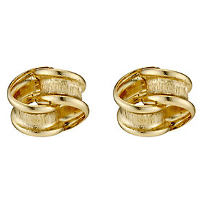 9ct Yellow Gold Loop Knot Stud Earrings - Product number 8727473