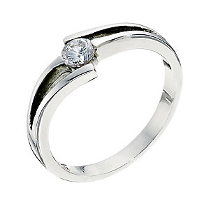Silver tension set cubic zirconia ring - Product number 8727902