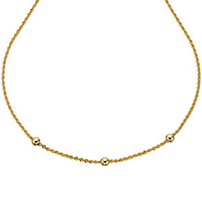 9ct Yellow Gold Rope & Ball Necklace - Product number 8729530