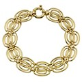 9ct Yellow Gold Double Chain Circle Bracelet - Product number 8730202