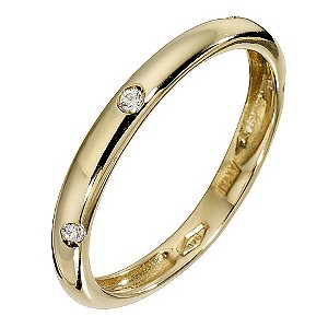 9ct Yellow Gold Cubic Zirconia Band Ring