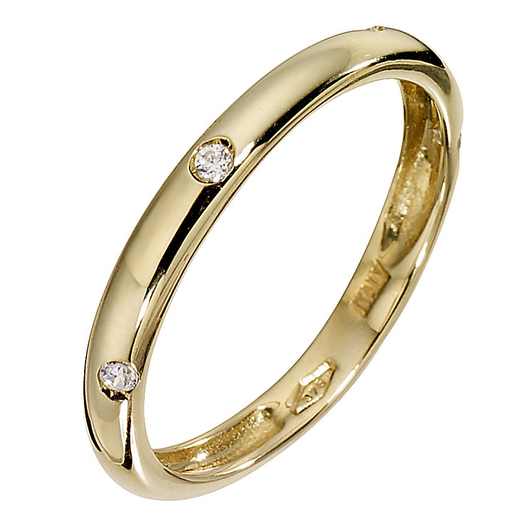 9ct Yellow Gold Cubic Zirconia Band Ring - Product number 8730482