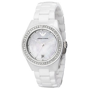 Emporio Armani white ceramic bracelet watch - Product number 8731748