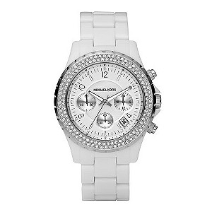 Michael Kors ladies' white bracelet watch - Product number 8732167