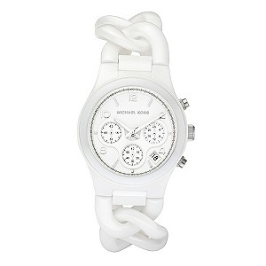 Michael Kors ladies' white bracelet watch - Product number 8732183