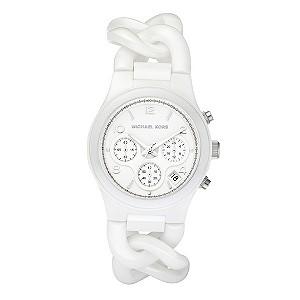 Michael Kors ladies' white bracelet watch - Product number 8732183