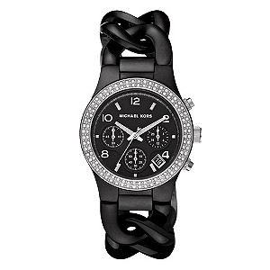 Michael Kors ladies' black chain-link bracelet watch - Product number 8732205