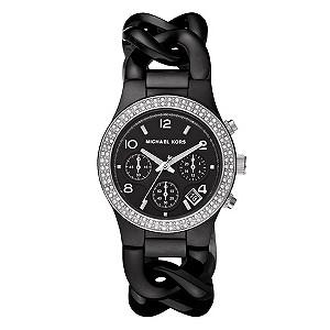 Michael Kors ladies' black chain-link bracelet watch - Product number 8732205