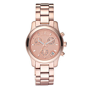 Michael Kors exclusive ladies' rose gold bracelet watch - Product number 8732299