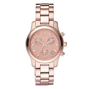 Michael Kors exclusive ladies' rose gold bracelet watch - Product number 8732299