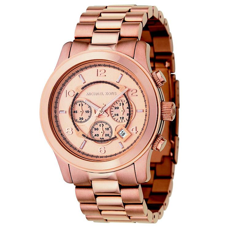 Rose Gold Watch Michael Kors Chronograph Michael Kors Men 39 s Rose Gold