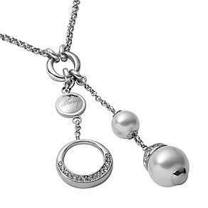 DKNY ladies' imitation pearl beaded drop necklace - Product number 8733015