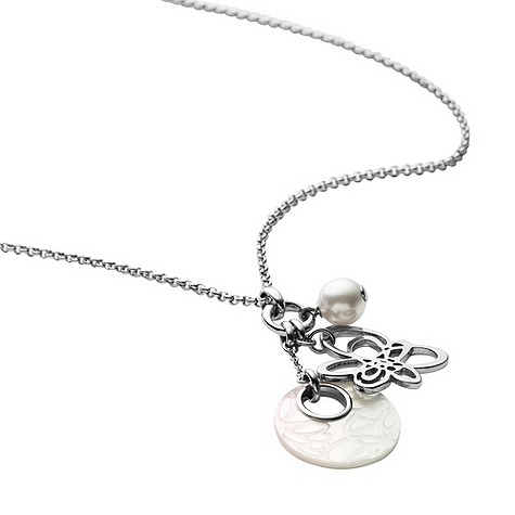 DKNY daisy mother of pearl necklace