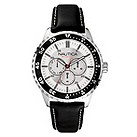 Nautica men's black leather strap watch - Product number 8734658