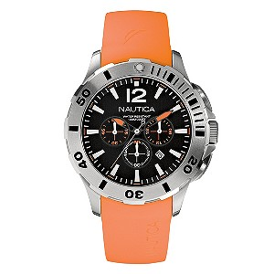 Nautica men's orange rubber strap watch - Product number 8734704