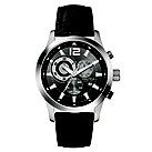 Nautica men's black leather strap watch - Product number 8734712