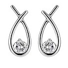 Silver cubic zirconia love knot earrings - Product number 8735247