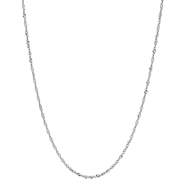 "9ct White Gold 18"" Chain - Product number 8735255"