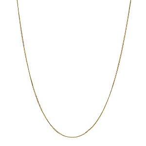 "9ct Yellow Gold 18"" Fine Curb Chain - Product number 8735271"