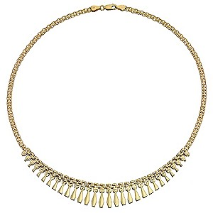 9ct Yellow Gold Small Cleopatra Collerette Necklace