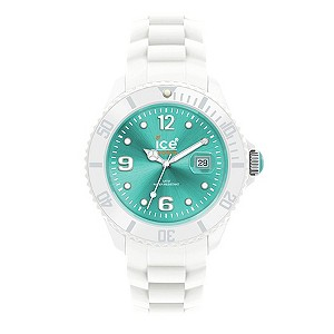 Ice-Watch Men's Turquoise Dial & White Silicone Strap Watch - Product number 8739978