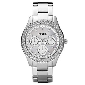Fossil Ladies' Stainless Steel Stone Set Bracelet Watch - Product number 8741212