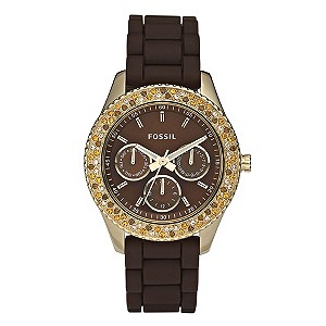 Ladies' Fossil Brown Resin Bracelet Watch - Product number 8741220