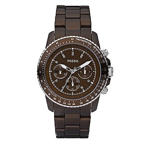Men's Fossil Chocolate Resin Bracelet Watch - Product number 8741247