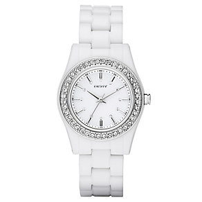 DKNY ladies' white bracelet watch - Product number 8741387