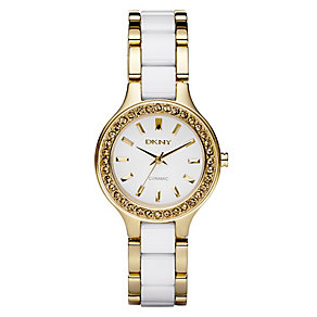 DKNY ladies' white bracelet watch - Product number 8741409