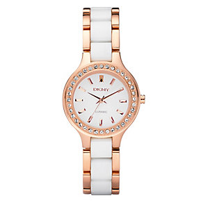 DKNY ladies' white bracelet watch - Product number 8741417