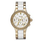 DKNY ladies' white & gold bracelet watch - Product number 8741727