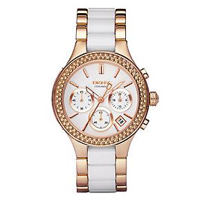 DKNY ladies' white bracelet watch - Product number 8741735