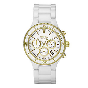 DKNY ladies' white ceramic bracelet watch - Product number 8741980