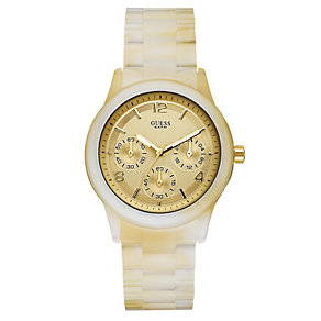 Guess Mini Spectrum Champagne Chronograph watch - Product number 8742898
