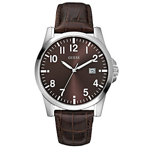 Guess Squadron Brown Strap Watch - Product number 8742928