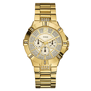 Guess Vista Ladies' Gold Plated Bracelet Watch - Product number 8743053