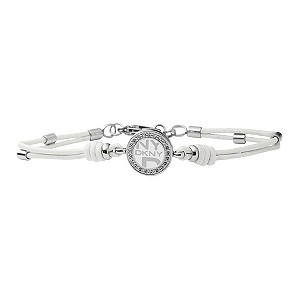 DKNY ladies' white leather bracelet - Product number 8743096