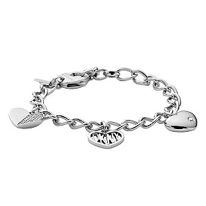 DKNY ladies' heart charm bracelet - Product number 8743134