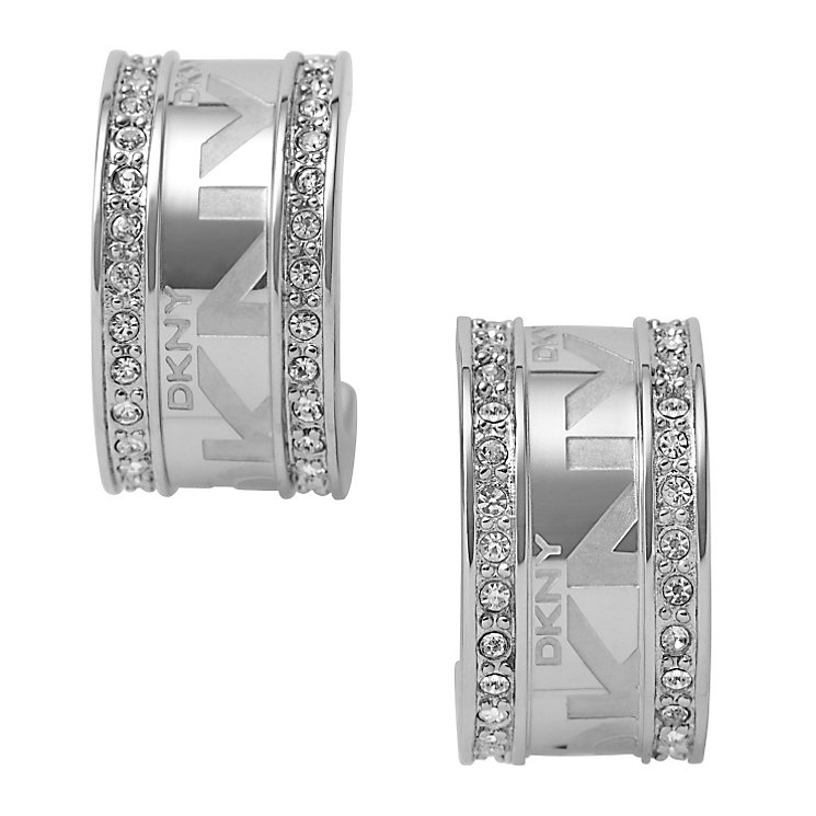 DKNY silver logo earrings - Product number 8743185
