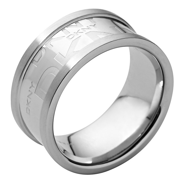 DKNY silver logo ring - size M1/2 - Product number 8743193