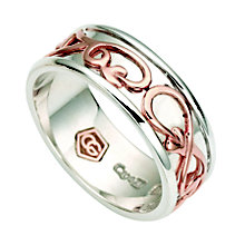 Clogau Silver & Rose Gold Tree Of Life Ring - Product number 8746923