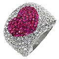 Pink Crystal Ring- Size P - Product number 8747644