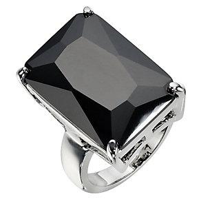 Large Black Rectangular Ring- Size P - Product number 8747679