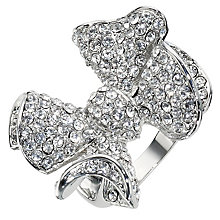 Clear Crystal Bow Ring- Size P - Product number 8747687