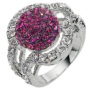 Pink Crystal Ball Ring- Size P - Product number 8747741