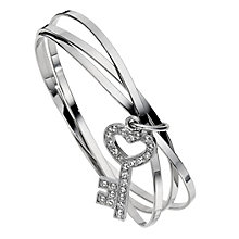 3 Band Key Charm Bangle - Product number 8747814