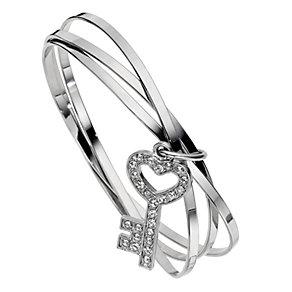 3 Band Key Charm Bangle - Product number 8747814